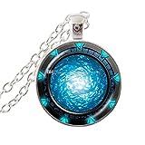 Colgante Stargate Portal Atlantis Collar Cristal Cabujón Arte Charm Redondo Joyería Hecho A Mano Mujeres Gargantilla Moda Accesorios Regalo