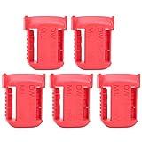 5 pièces batterie au Lithium support de stockage organisateur boîtier de rangement fente de ceinture pour Milwaukee M18 18 V(rouge)