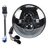 Belt&Road 7 Inch Round Super White LED Headlight for Harley Davidson Fits 2014-2020 Street Glide Special,Hi-Lo Beam Headlamp With Dual Beam Adapter,Black Housing