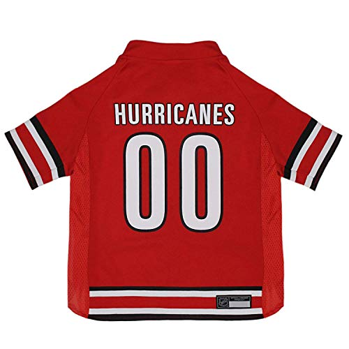 NHL Carolina Hurricanes Jersey for Dogs & Cats, Large. - Let Your Pet Be A Real NHL Fan!