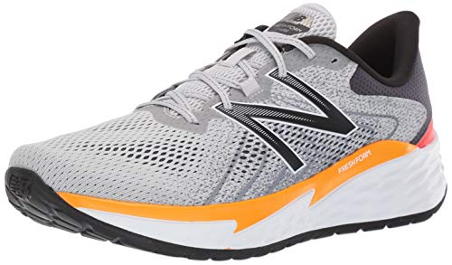New Balance Men's Fresh Foam Evare V1 Running Shoe, Light Aluminum/Chromatic Yellow, 10 XW US