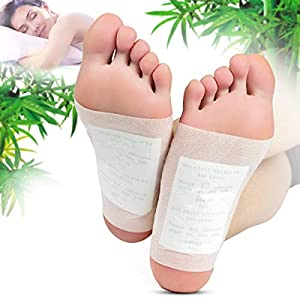 [Natural Way to Clean] - Natural ingredients in this foot pads relieve pain and tension, promote deeper sleeping [Clean While You Sleep] - Simply stick it underneath your foot before sleeping. Generally need 6 - 8 hours for full absorption to occur b...