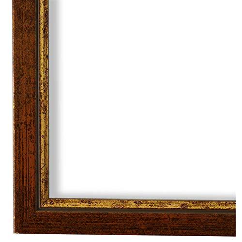 Bilderrahmen Kupfer Gold 10 x 15 cm - Modern, Klassisch - Alle Größen - handgefertigt - Galerie-Qualität - WRF - Sanremo 1,8 - Massiv-Holz