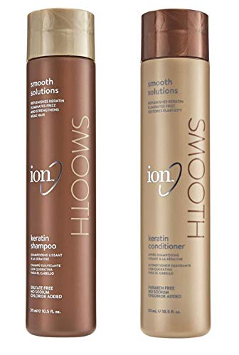 ION Keratin Smoothing Shampoo and Condtioner Set 10.5 Ounce