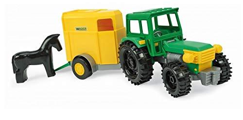 Wader Tractor con remolque, 36 cm, color amarillo