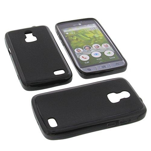 Tasche für Doro 8031 Gummi TPU Schutz Hülle Handytasche schwarz