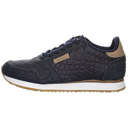 Woden Sneakers Ydun Croco 37, 010 Navy