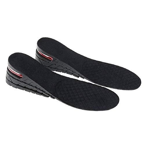 Bluelliant Plantillas Elevadoras De Altura Alzas Para Zapatos Hombre Mujer 3 5 7 9 cm Invisible 1-4 Capas Negro
