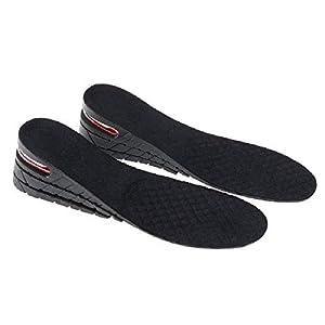 Bluelliant Plantillas Elevadoras De Altura Alzas Para Zapatos Hombre Mujer 3 5 7 9 cm Invisible 1-4 Capas Negro (4 Capas, 9cm)