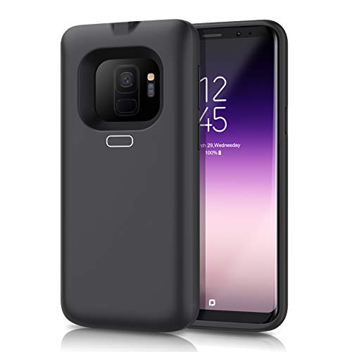 Battery Case for Galaxy S9, Feob 5500mAh Rechargeable Portable Charger Case Extended Battery Pack for Samsung Galaxy S9 Protective Charging Case for Galaxy S9 (5.8 inch) -Black