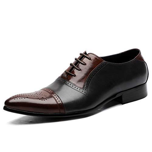 Heren Classic Oxford echt lederen schoenen Brogues Casual Veterschoenen pak voor bruiloft Prom Office