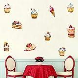 TeriliziDelicioso Pastel Helado Etiqueta De La Pared Decoraciones De La Fiesta De Cumpleaños Para La Tienda De Golosinas Ventana Vinilo Diy Refrigerador Mural Decoración Del Hogar
