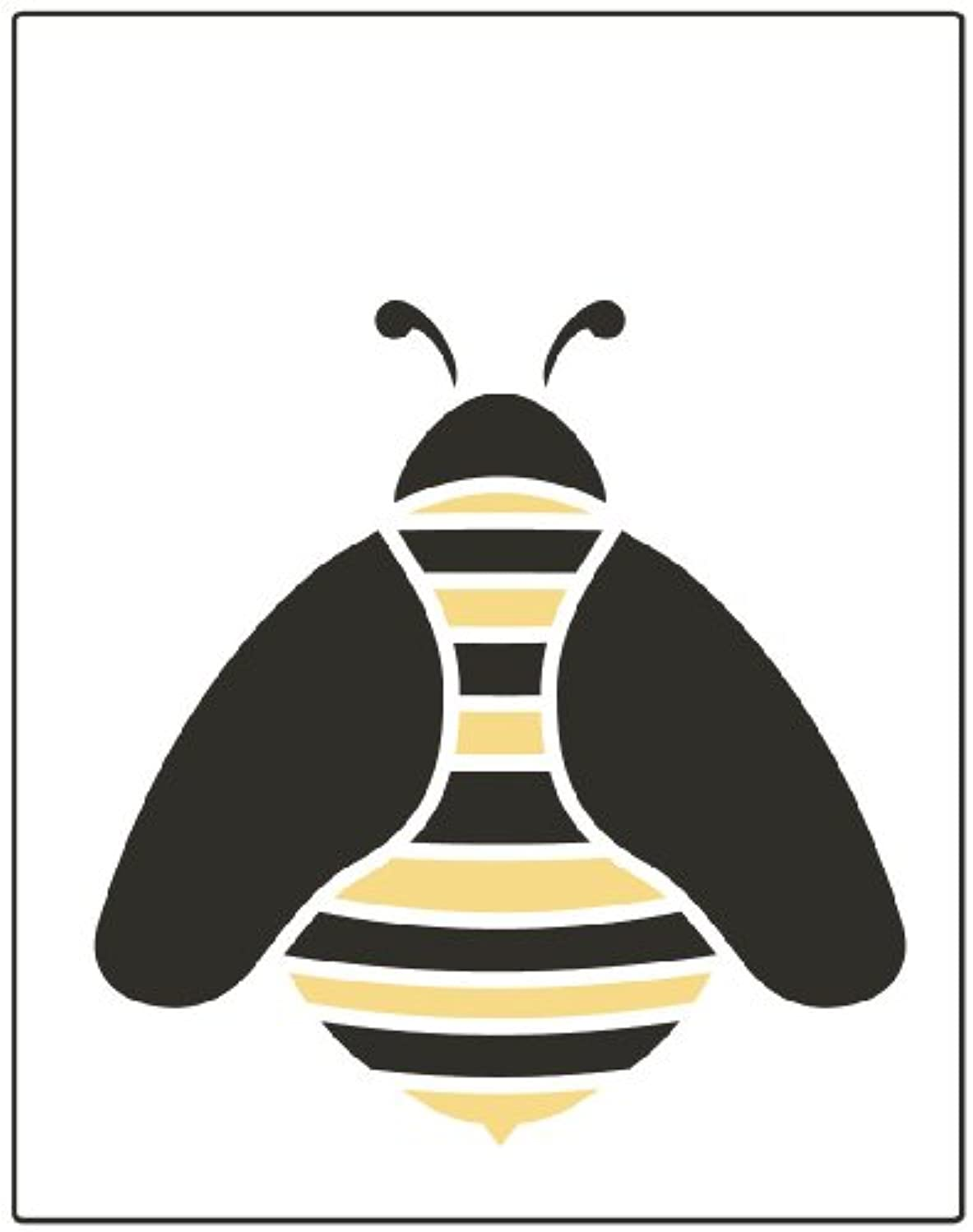 Faux Like a Pro Bumble Bee Stencil, 5.5 by 7-Inch, Single Overlay