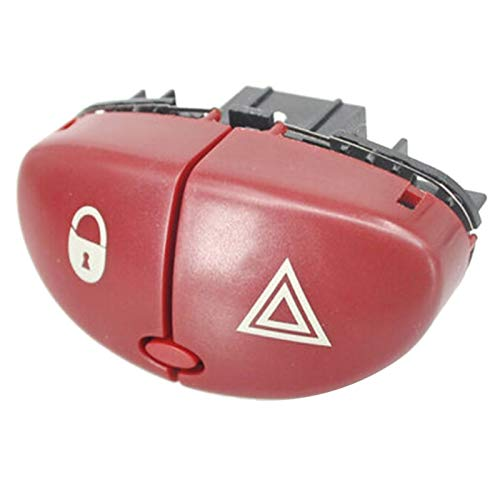 Lanrui Red Hazard Advertencia Encienda El Interruptor De Encero Severo Botón De Interruptor Abstemioso 6554L0 96403778JK para Peugeot 206 207 Citroen C2