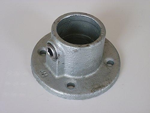 B&T Metall Rohrverbinder Fußplatte T131 Ø 42,4 mm (1 1/4