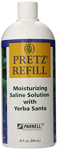 Pretz Refill Moisturizing Saline Solution with Yerba Santa, 32 Fluid Ounce