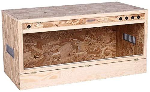 MTCWD Reptil Zucht Box Pet Reptil MDF-Kasten Uhr Isolierung Schildkröte Lizard Gecko Snake Nest Vogel Ratte Roost Vivarium Cage
