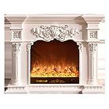 Fuego de esfuerzos y chimeneas Holbeck Estufa eléctrica de la estufa de la chimenea Freestanding 1500W / 750W Estufa del calentador de espacio con la llama 3D realista Fuego eléctrico montado en la pa