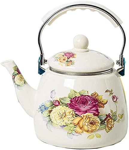 3.3L estufa tetera hervidor esmalte engrosado con té de impresión de fugas de té, café, cocina de inducción de gas, general 16 cm17 cm