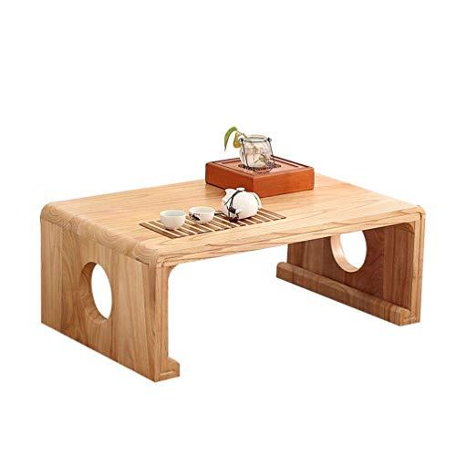 ZXL massief hout kleine vierkante tafel, creatieve huishoudsalontafel slaapkamer vensterbank lage tafel kinderen bureau hoog: 30cm (kleur: # 1, grootte: 80 * 50 * 30cm)