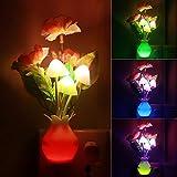 Luz nocturna de inducción Dream Mushroom Fungus Luminaria Lámpara Novedad 220V 3 LED Lámpara de hongo luces de noche led
