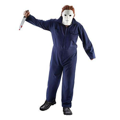 Chaks Disfraz de Michael para Hombre para Michael Myers y Fans de Halloween Azul