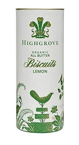 ハイグローブオーガニック Highgrove Organic 英国ビスケット レモンショートブレッド (Lemon Shortbread) 125g 紙筒缶入り[並行輸入品]チャールズ皇太子のブランド
