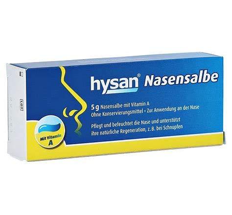 Hysan Nasensalbe Spar-Set 3x5g. Pflegt und befeuchtet die Nase und unterstützt ihre natürliche Regeneration (z.B. bei Schnupfen). Mit Vitamin A. Ohne Konservierungsmittel.