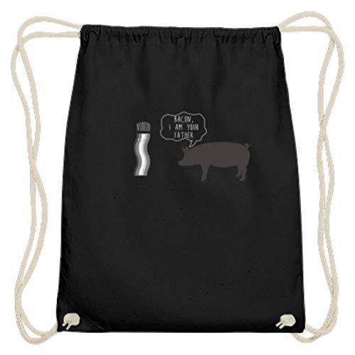 Bacon I Am Your Father - Bacon Ik ben je vader - varken spreken om te ham - Katoen Gymsac