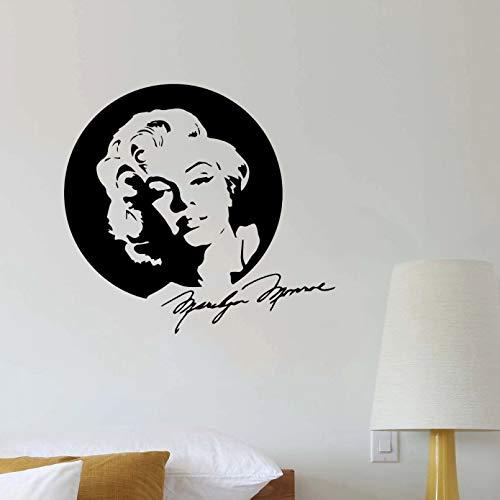 Marilyn Monroe Adesivi murali impermeabili Decorazioni per la casa Decalcomanie da muro impermeabili Decalcomanie da muro