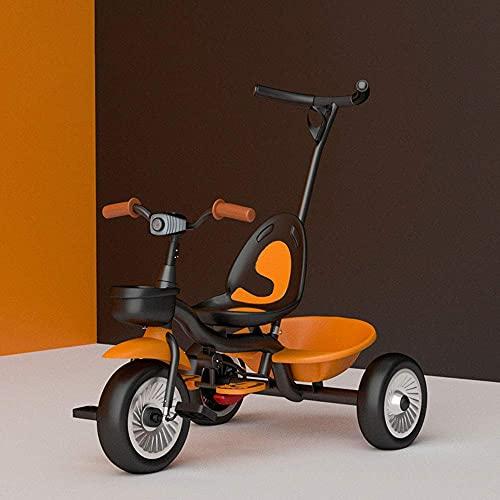 GPWDSN Triciclo de Gama Alta para niños, Triciclo para niños, Triciclo 2 en 1, Coches de Pedales para niños de 2 a 6 años, Carrito para niñas, patinetes para niños pequeños, Almacenamiento en la es