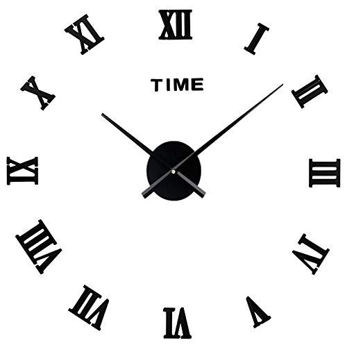 SDGDSFG Reloj de Pared de la Pared del Espejo de acrílico Grande 3D Reloj de Cuarzo Moderno Dial de la decoración del hogar Bodegón Reloj de la Vida Etiqueta de la Sala de Estar