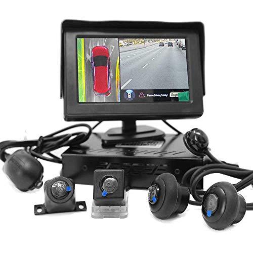 HSRpro RFK-98 3D 360° achteruitrijcamera voor personenauto's, kleine bus, bestelwagens en caravans incl. 4,3