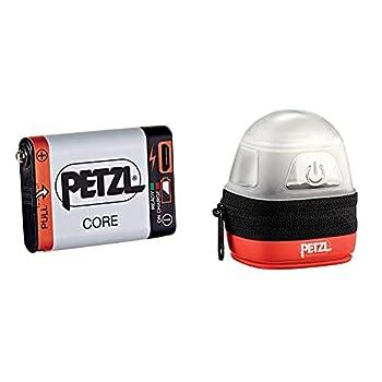 Petzl Core Batterie pour Lampe Frontale Mixte Adulte, Blanc & NOCTILIGHT - étuis pour équipements (Petzl, TIKKINA, Tikka, ZIPKA, ACTIK, ACTIK Core, REACTIK, REACTIK +, TACTIKKA), Noir/Orange