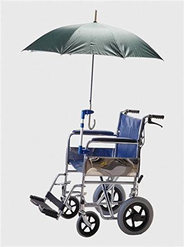 Soporte para paraguas en sillas de ruedas o andadores, Manos libres, altura ajustable, para tubos de 8 a 30 mm, No incluye paraguas