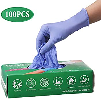 100-Pack Gracosy Disposable Cleaning Nitrile Gloves