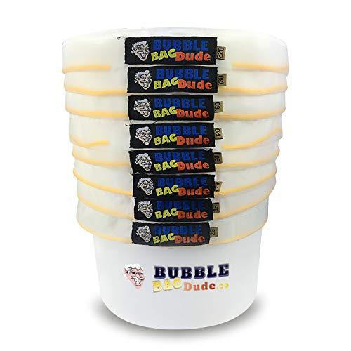 BUBBLEBAGDUDE All Mesh 1 Gallone 8 Beutel Herbal Hash Ice Extractor Kit - Mit Presssieb und Aufbewahrungstasche von Bubblebagdude