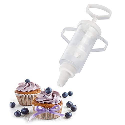Westmark Siringa per dolci, Con 5 beccucci, Capacità: 100 ml, Plastica, Trasparente/Bianco, 30772270