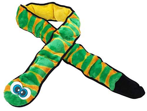 Outward Hound Invincibles Green Snake Plush Dog Toy, XXL