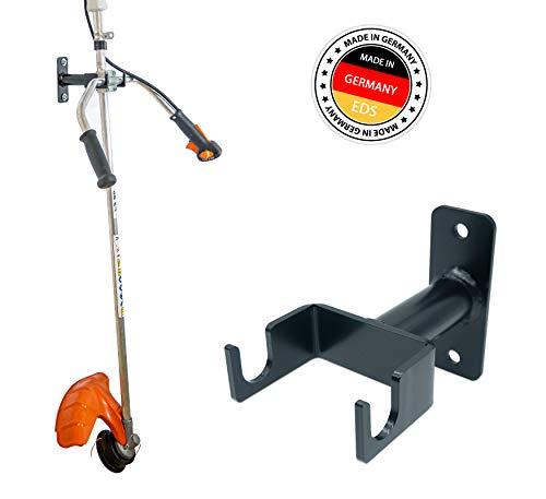 EDS - Rasentrimmer - Freischneider - Motorsensen Wandhalterung | inkl. Befestigungsmaterial | Wandhalter für Zweihand-Freischneider vieler Marken wie Stihl - Einhell - Makita - Bosch - Hecht - uvm.