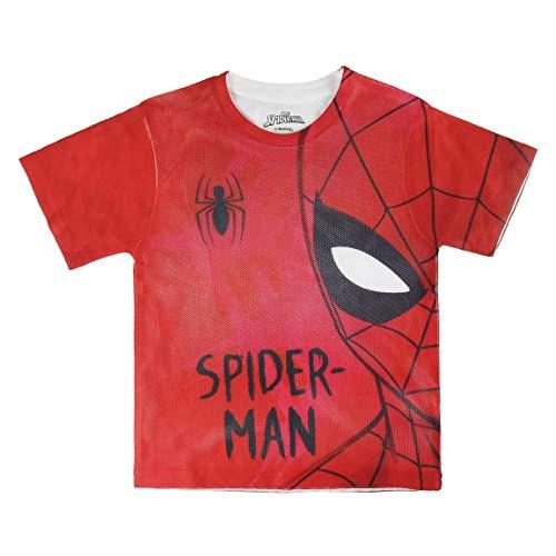 Spiderman S0713669 Camiseta, Rojo, 6 años Unisex niño