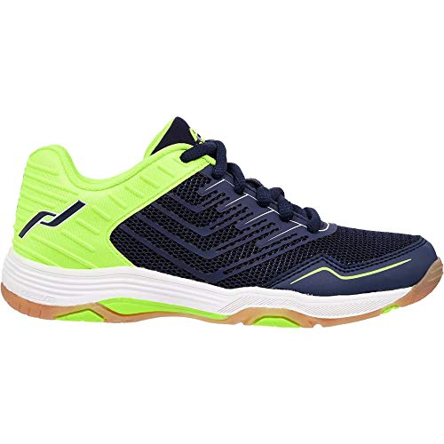Pro Touch Unisex Kinder Rebel 3 Volleyball-Schuh, Navy/Green Lime, 37 EU