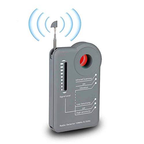 Detector de Señal RF Portátil, Finder Tracker 1MHz - 8.5GHz, Escáner Anti Escucha para cámara Oculta Dispositivo de Escucha GSM Radar GPS Escáner de Radio Buscador
