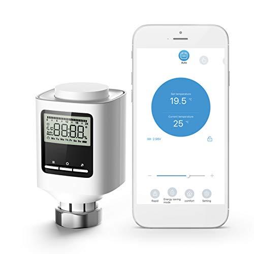 Galapara Smart Radiator Thermostat, ZigBee Thermostat-Heizkörperventil Wöchentlich programmierbare intelligente Heizung Heizkörper APP-Steuerung Sprachsteuerung für konstante Innentemperatur