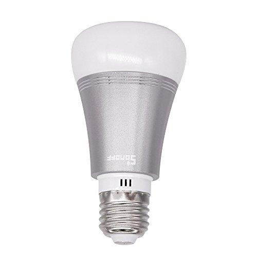 Lampadina Intelligente LED E27 Sonoff B1 – Wi-Fi Dimmerabile con Funzione di Cambio Colore Luce Diurna Notturna – Supporta Amazon Alexa e Google Home