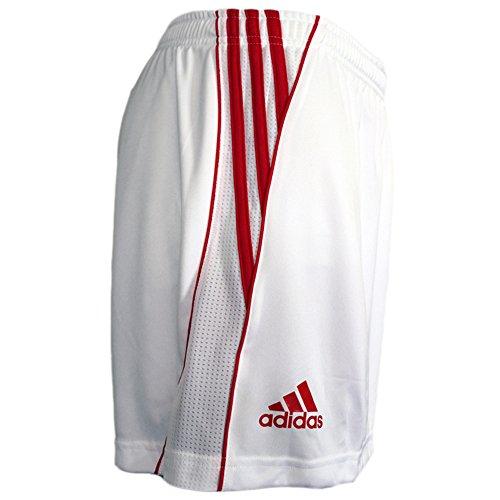 adidas Cro Fed Short Hose Damen Sportshorts Weiss-rot NEU