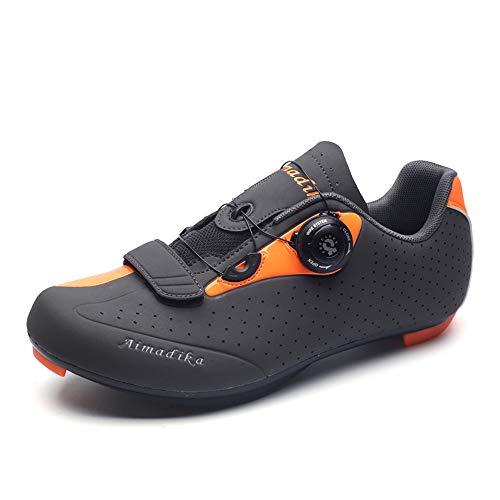 Zapatillas de Ciclismo para Hombre, Zapatillas de Ciclismo de Carretera Transpirables Zapatillas...