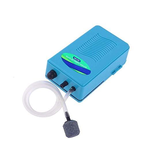 JJSFJH Tragbare Aquarium Batterie Reserveluftpumpe Aquarium Pumpe mit Zubehör betrieben Aquarium Luftpumpe Belüfter Sauerstoff