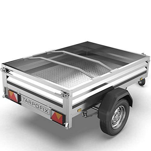Tarpofix® Anhänger Planenbügel Flachplanenbügel (2er Set) - Universell anpassbarer Haltebügel für Anhängerplane (100-145 cm) - langlebige & robuste Alu Bügel für Flachplane - 100% Aluminium