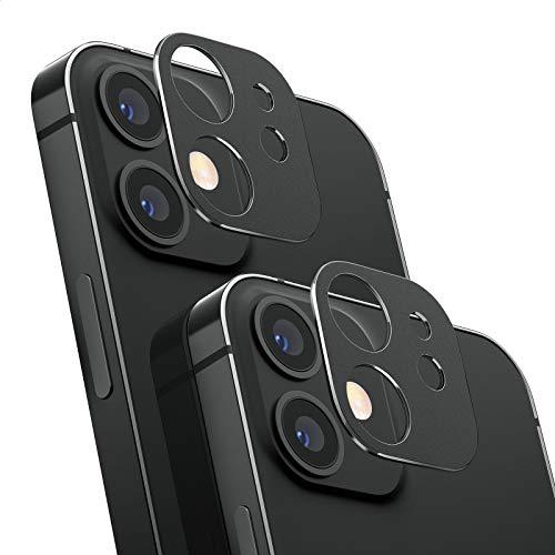 NIMASO カメラ 保護 カバー iPhone 12 mini 用 アルミ合金製 レンズ カバー 2枚セット カメラフィルム 替わり